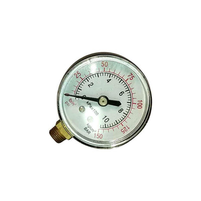 "2"" dial air gauge with sturdy steel case"