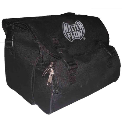 black two compartment zipper carry bag with top flap for mf-1089