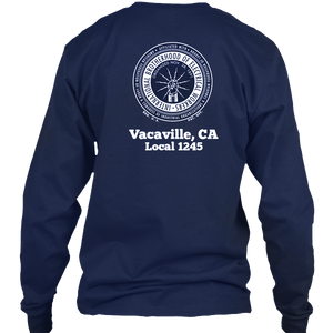 Navy Long Sleeve Pocket T-Shirt