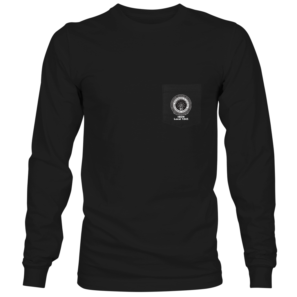 Black Long Sleeve Pocket T-Shirt