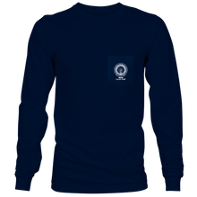 Load image into Gallery viewer, Navy Long Sleeve Pocket T-Shirt