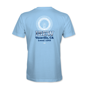 Light Blue Kids' Short Sleeve T-Shirt