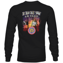 Load image into Gallery viewer, Black Long Sleeve Sunset Design T-Shirt
