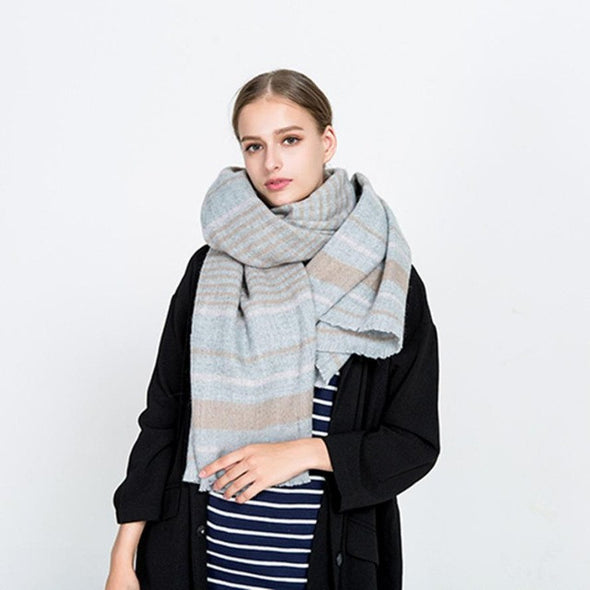 Bangor Striped Long Scarf