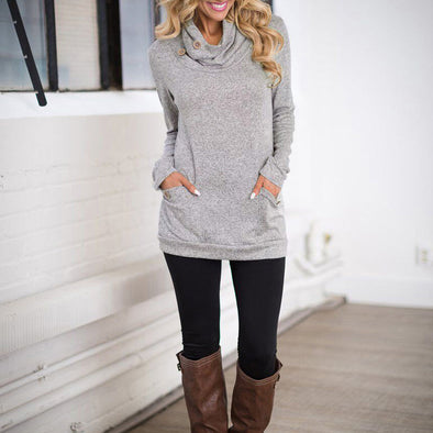 Bangor Cowl Neck Slim Sweater