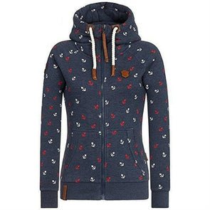 Bangor Patterned Zip-Up Hoodie