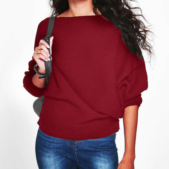 Bangor Batwing Sleeve Knitted Pullover Sweater