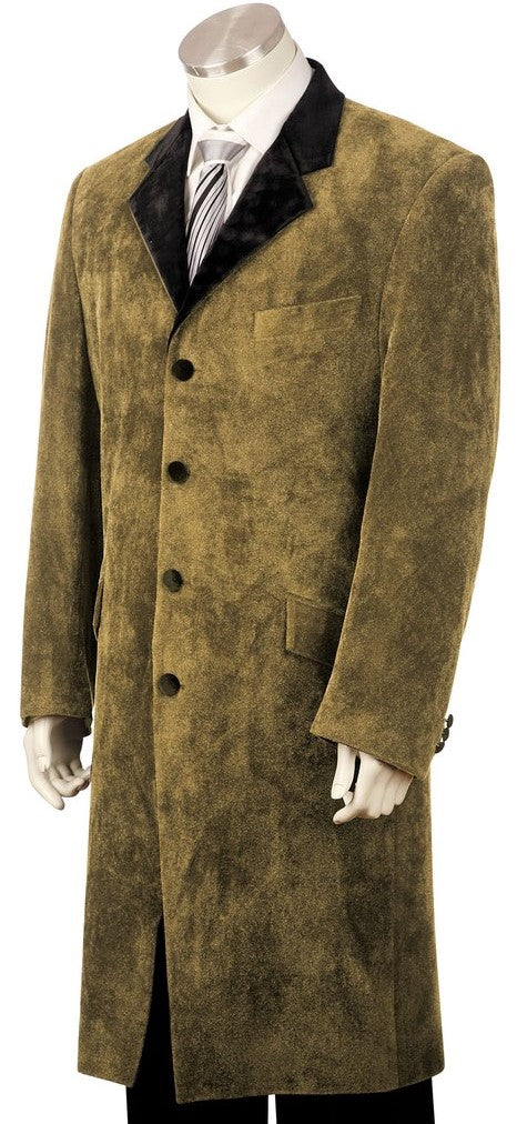 Beaver Pelt Velvet Microfiber 2pc Long Zoot Suit Set