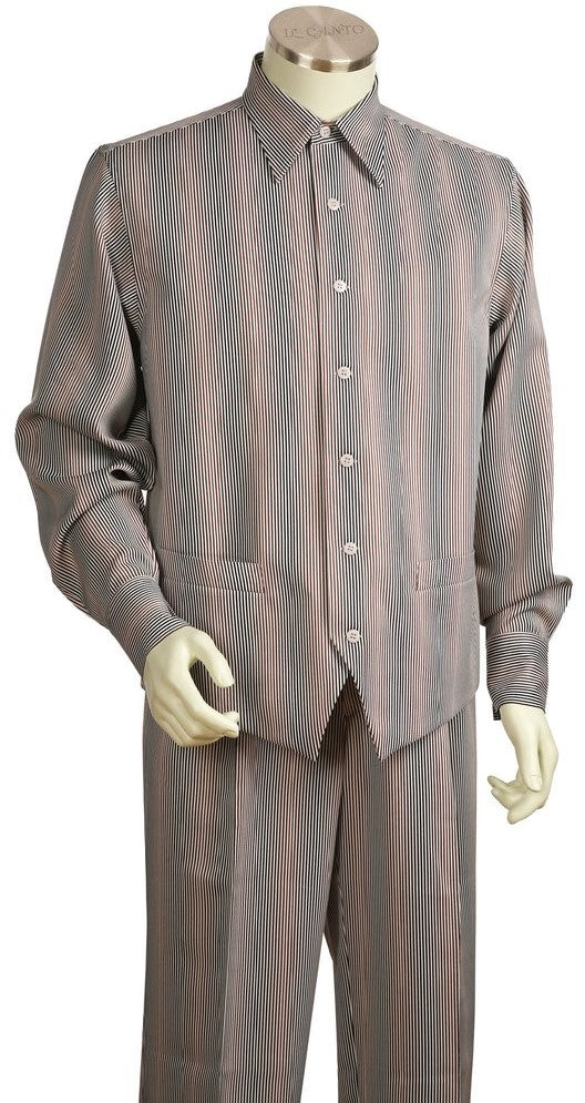 Super Stripes Long Sleeve 2pc Walking Suit Set