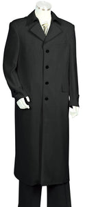 Trench Collar 2pc Long Zoot Suit Set - Black
