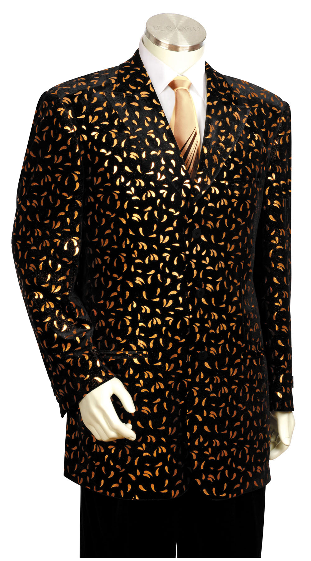 Disco Teardrops Velvet Entertainment 2pc  Zoot Suit Set - Gold