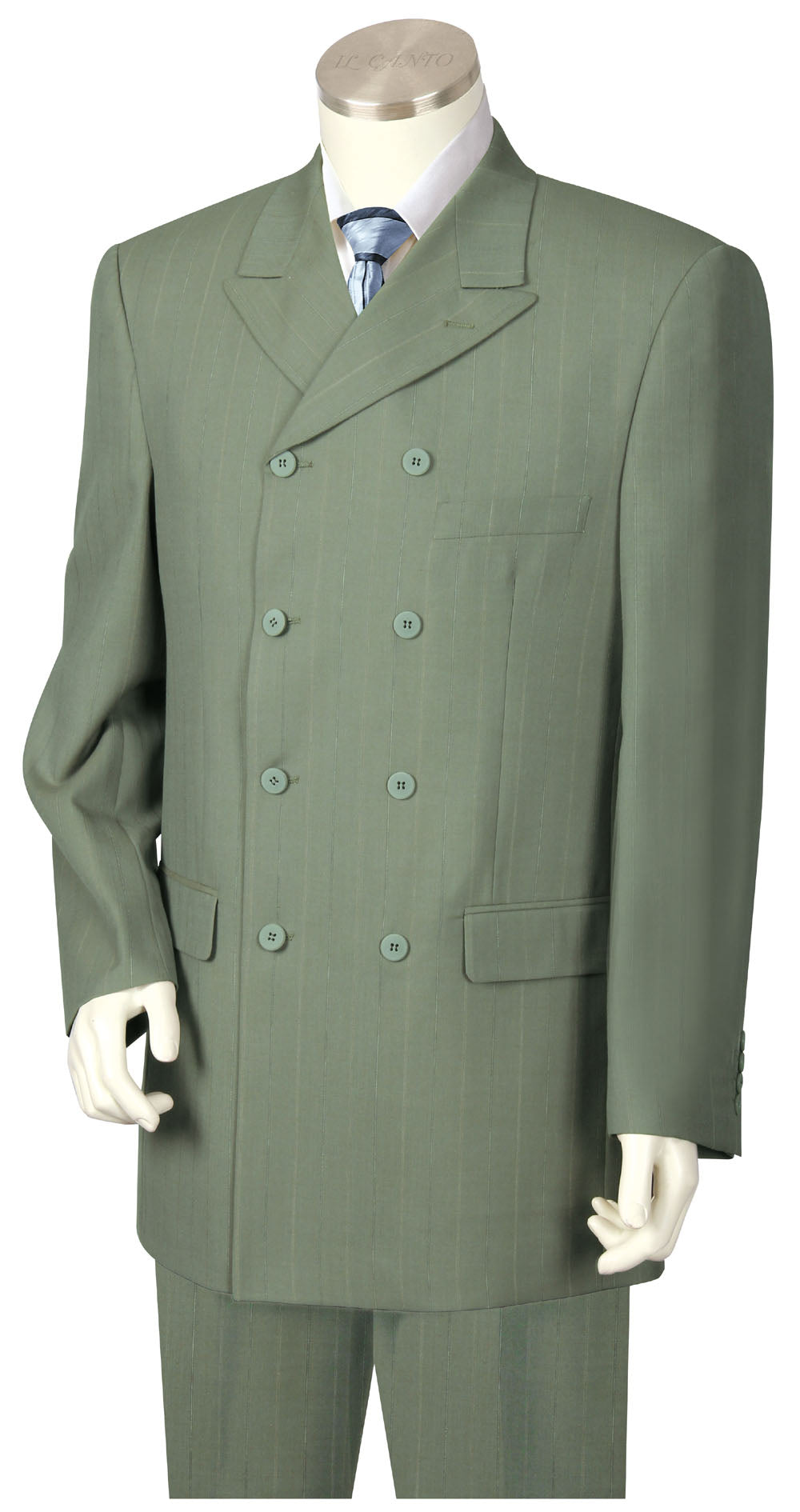 Victorian Double Breasted 3pc Zoot Suit Set - Sage