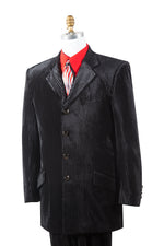 Textured Velvet 2pc Zoot Suit Set