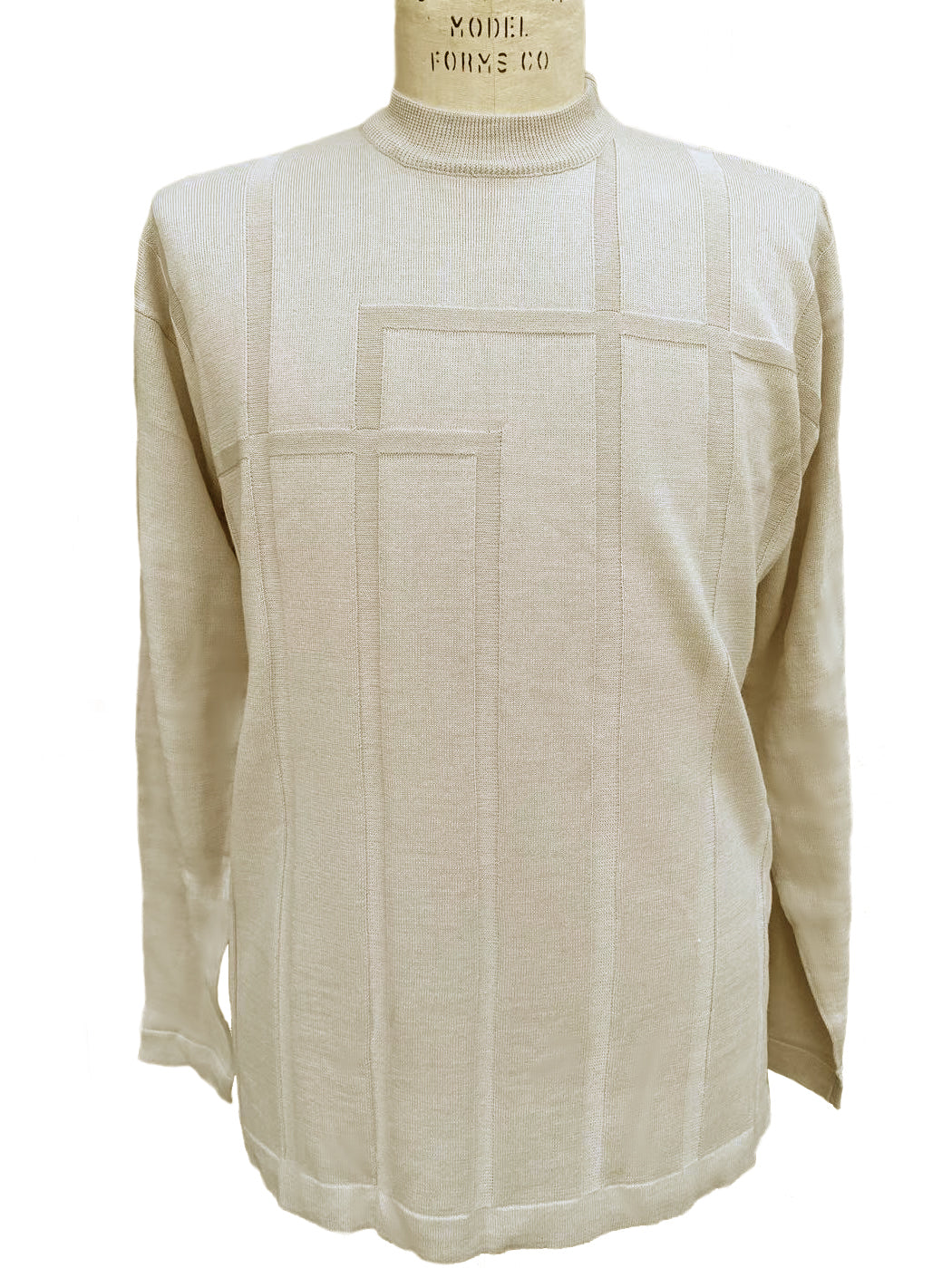 Grid Sect Thermal Long Sleeve Shirt - Khaki