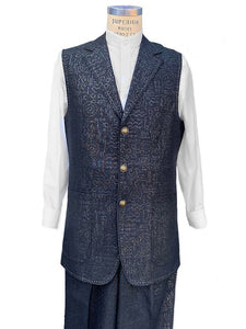 Primordial Shapes 2pc Zoot Suit Vest Set - Black