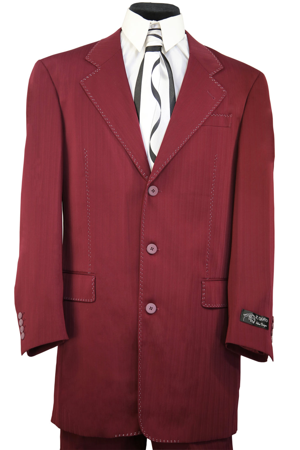 Harlem Maroon 2pc Zoot Suit Set