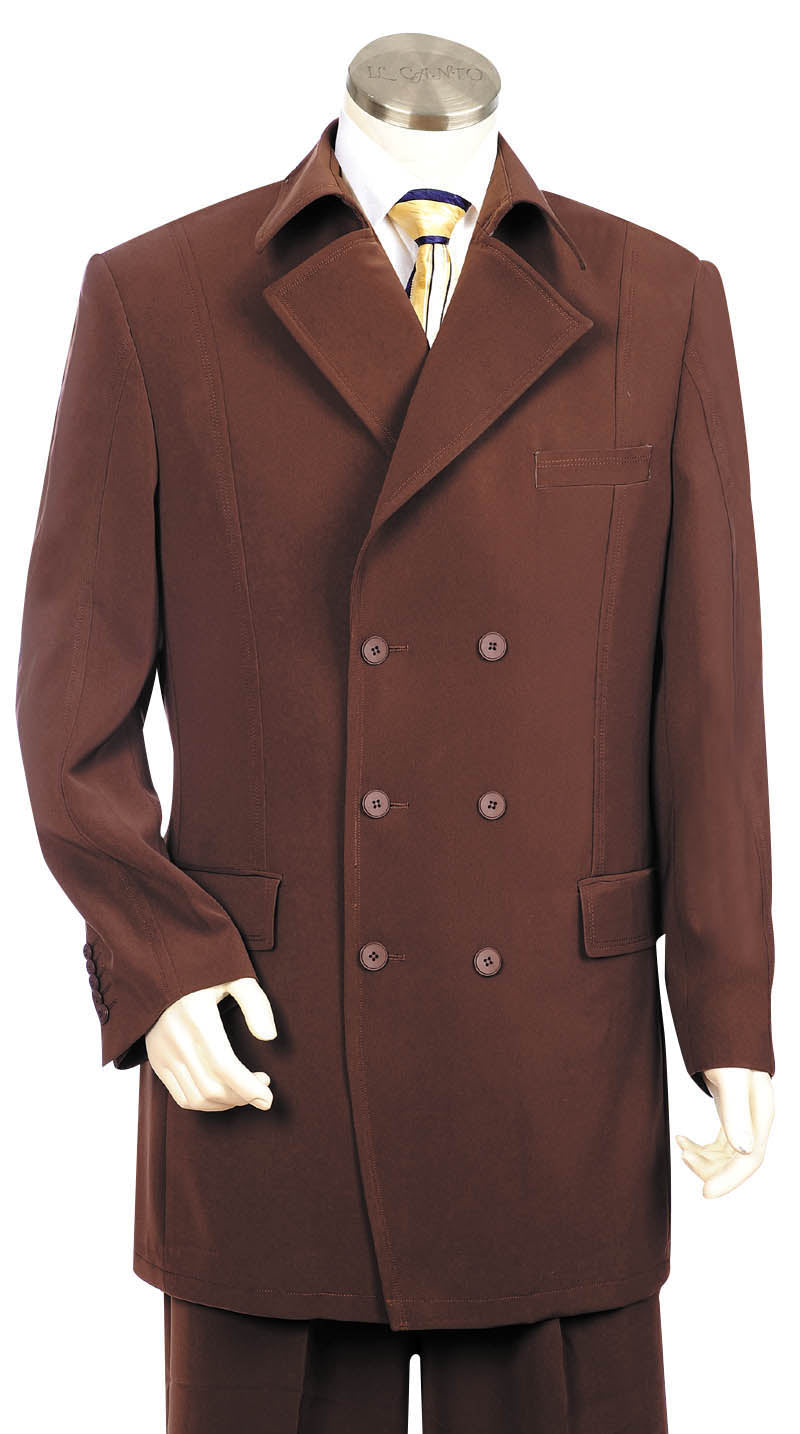 Stylish Trench Collar Double Breasted  3pc  Zoot Suit Set