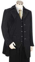Stylish Trench Collar  3pc  Zoot Suit Set