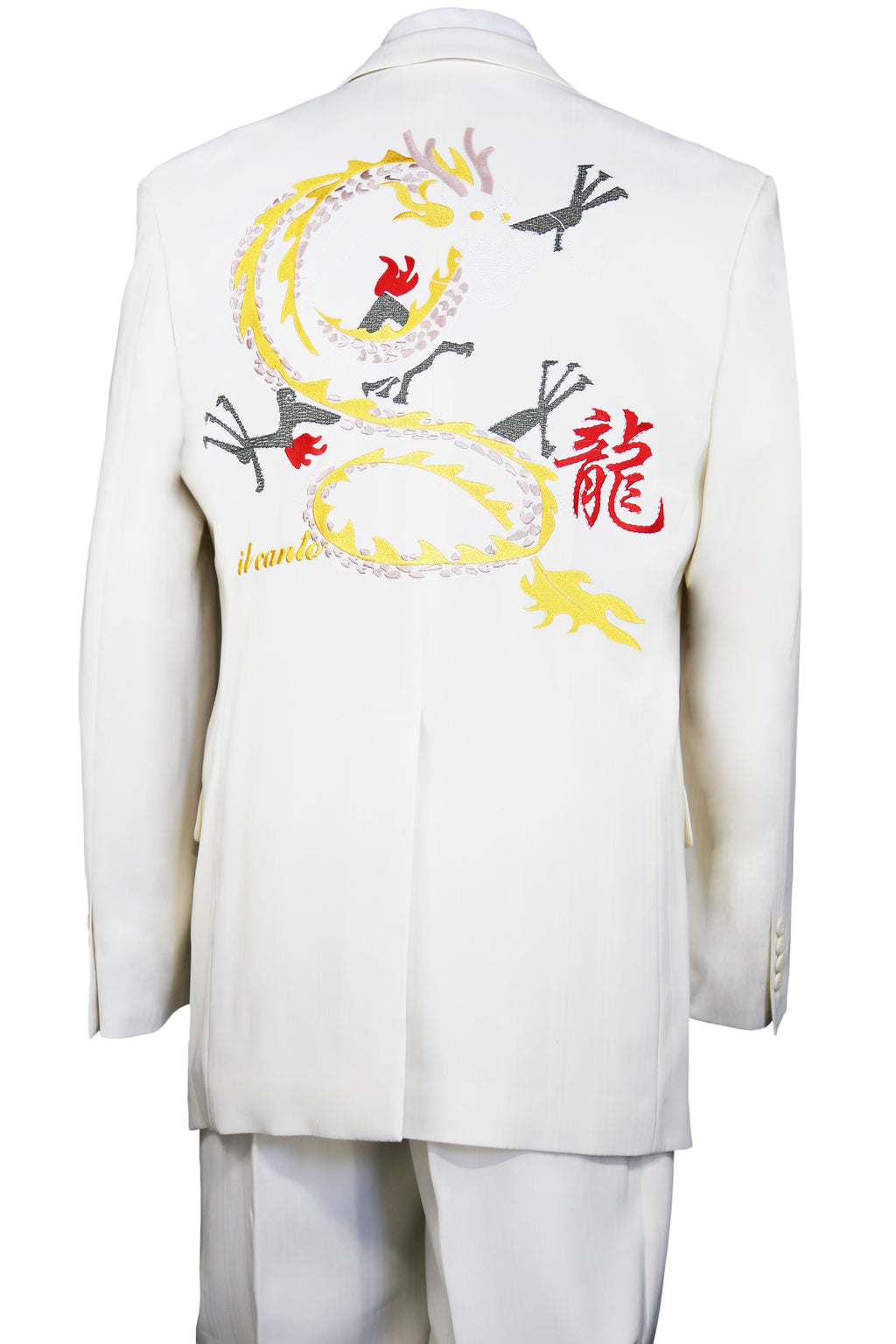 Chinese Dragon Embroidered 2pc Zoot Suit Set