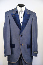 Low Lapel Denim Entertainment  2pc Zoot Suit Set