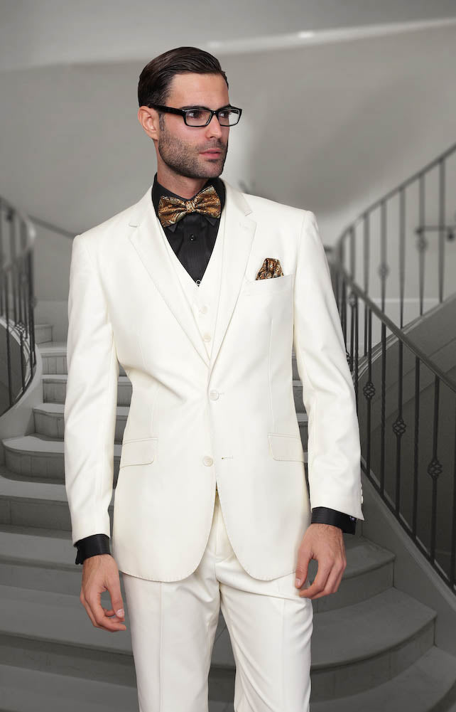Monotone  3pc  Italian Suit Set - Off White