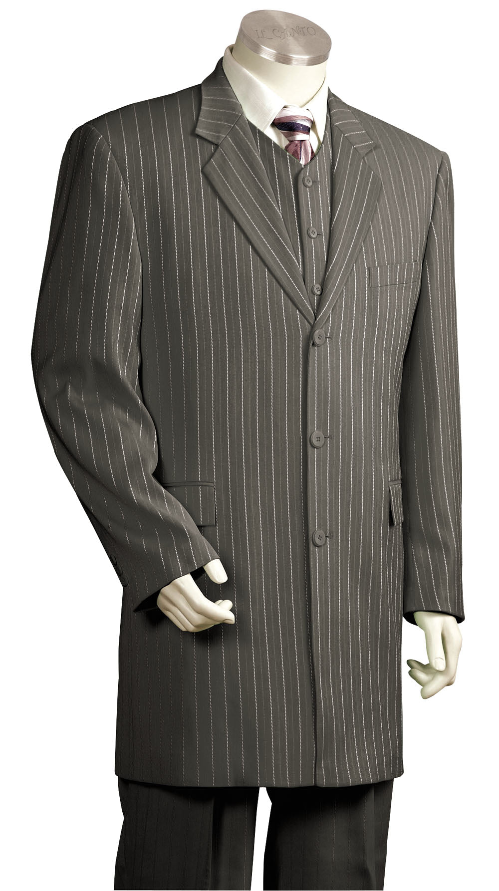 Razor Stripes 3pc Zoot Suit Set - Gray