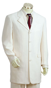Citywalker Designer Wool 3pc  Zoot Suit Set - Off White
