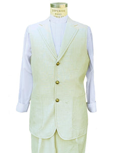 Primordial Shapes 2pc Zoot Suit Vest Set - Off White