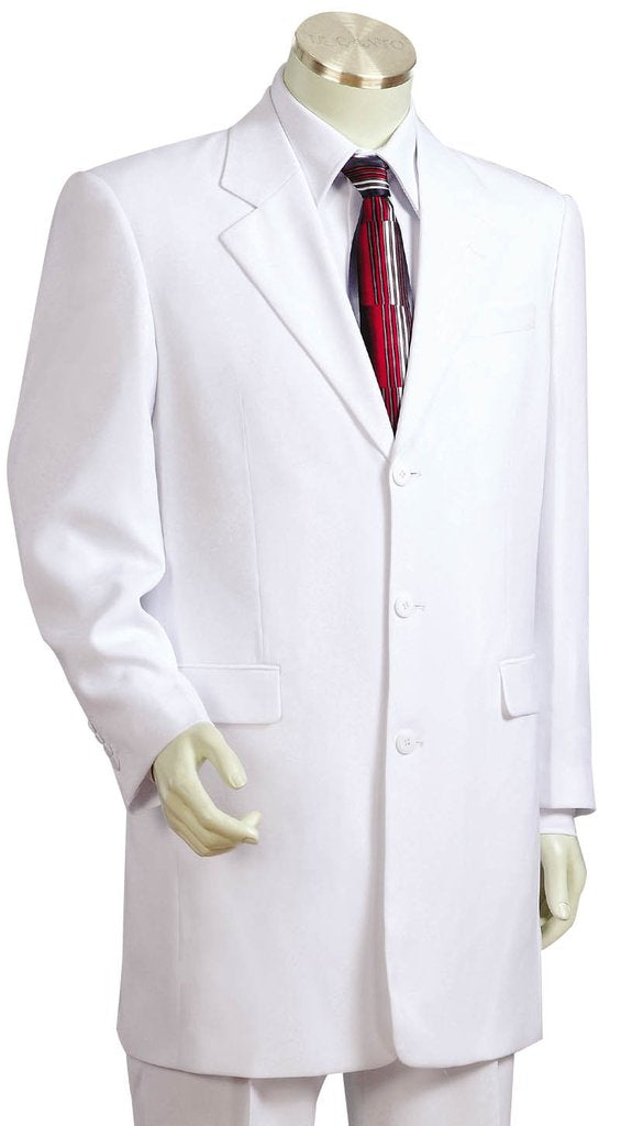 Citywalker Designer Matte 3pc  Zoot Suit Set - White
