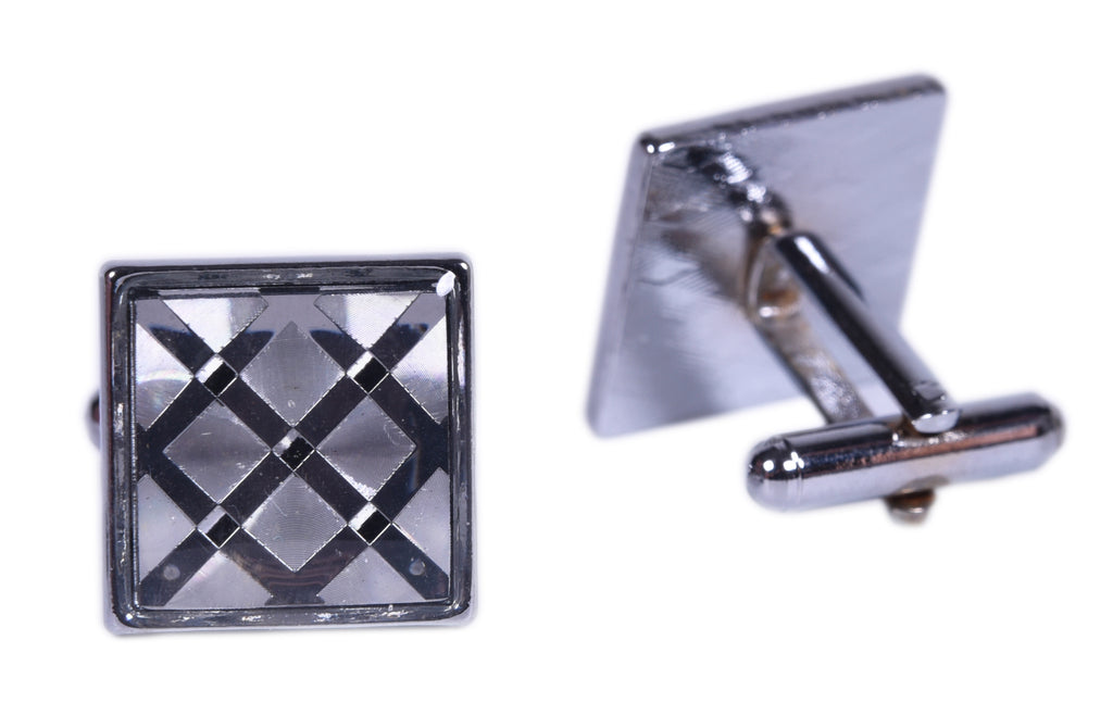Checkered Cuff Links Set