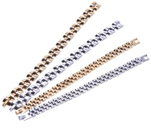 Gold Plated Wrist Chain - Large Links