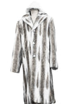 WINTER SPECIAL: FREE FUR HAT + Faux Wolf Fur Coat Buttoned 1pc Long Zoot Suit - Coffee