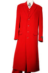 Stylish 3pc Long Zoot Suit Set - Red