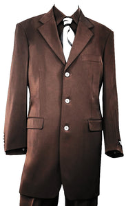 Citywalker Designer Matte 3pc  Zoot Suit Set - Brown