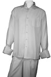 Woven Long Sleeve 2pc Walking Suit Set