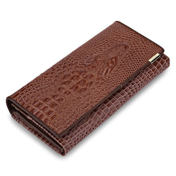 Clutch Wallet Men, Animal Leather Cover Snap Fastener Mens Clutch Wallet, Dun