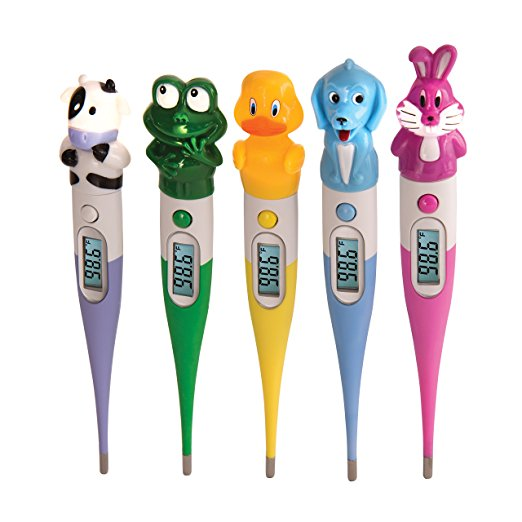 Oral Thermometer Digital, Kids Probe Accurate Readings Thermometer Oral, Set Of 5