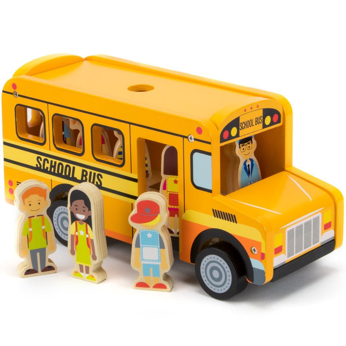 Toy Playset, 8 Character Figures Back To School Bus Kids Playset Toy