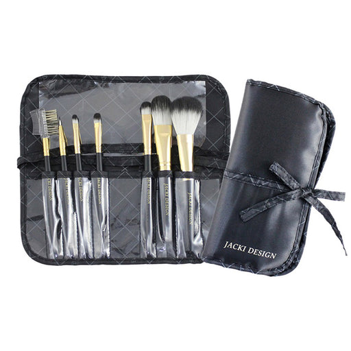 Eye Makeup Brush Set, Black Vintage Allure 7 Pc Brush Makeup Set, With Bag