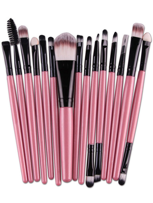 15pc Nylon Professional Makeup Brush Sets Makeup Brush Set Travel  - Pink