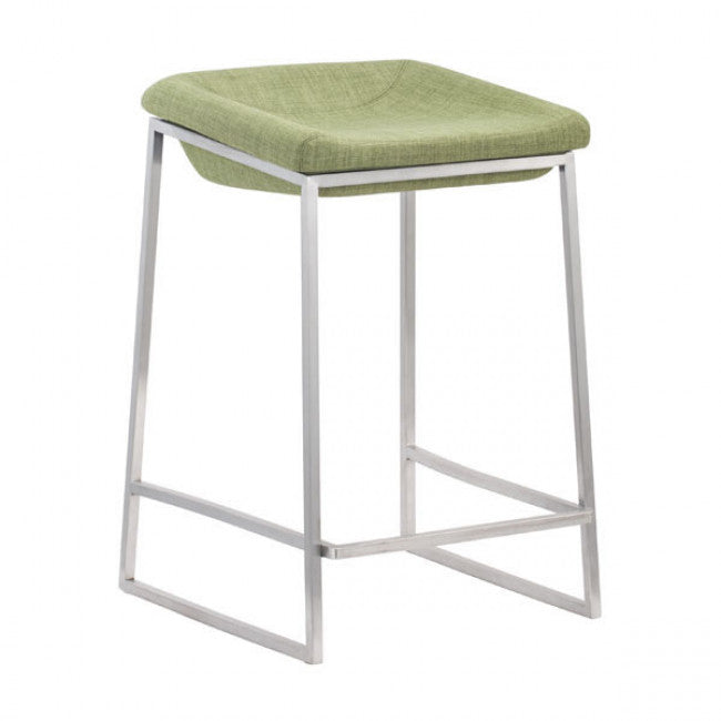 Counter Stools Set, Green Lids Stainless Steel Bar Stools Counter, Set Of 2