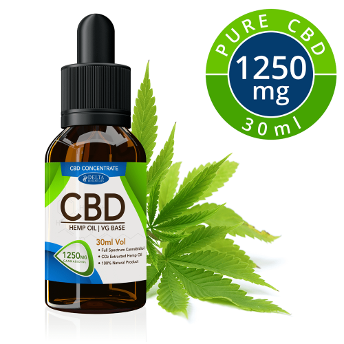 CBD Vape Oil Concentrate | 1250mg | Zero THC