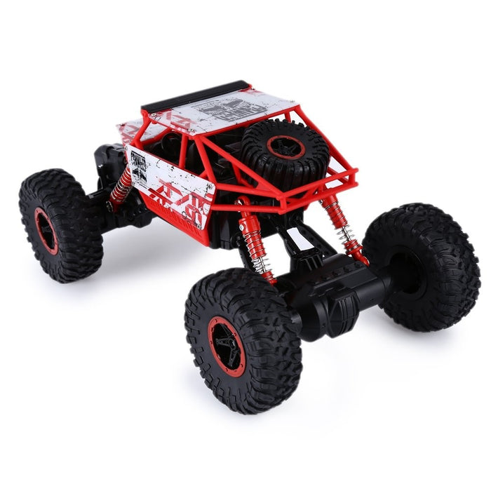 Rc Car Track, Red 2.4ghz 1:18 Scale Off-road 4wd Race Truck Toy, Usb Cable Charge