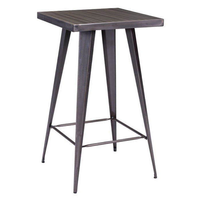 Olympia Bar Furniture Accent Table Dining Room Accent Table  - Gunmetal