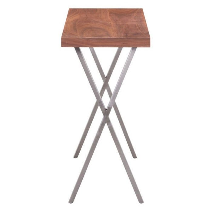 Modern Accent Table Console Console Table Modern For Entryway  - Walnut