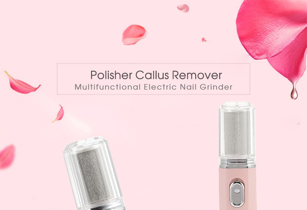 Callus Removal, Nail Grinder Polisher Electric Cordless Callus Remover, White