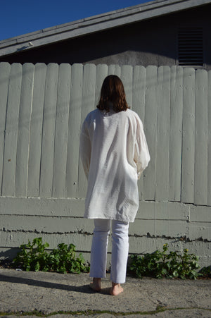 Chemise Mio - Rayures off-white tons sur tons