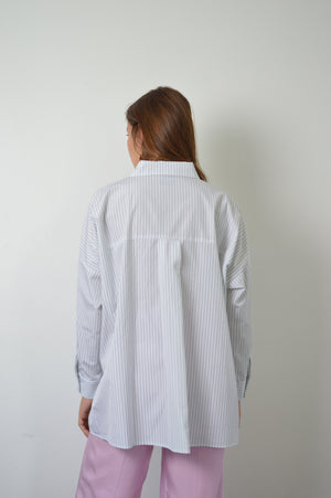 Chemise Clo - Blanche Rayures Grises