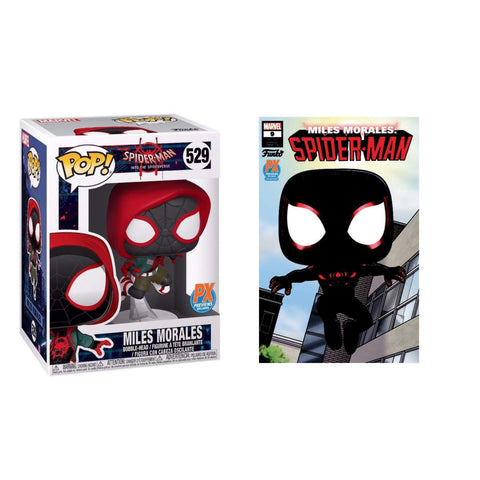 PoP! Marvel: Spider-Man-Into The Spiderverse-Miles Morales PX Exclusive (W/ Comic Variant)
