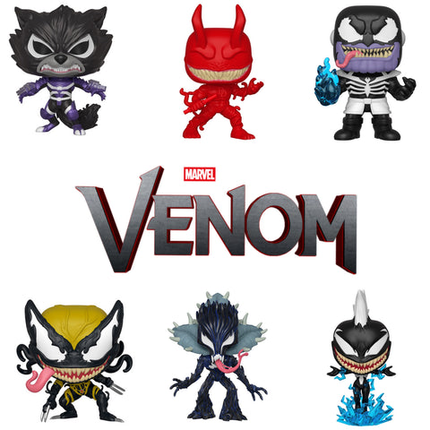 POP! MARVEL: Marvel Venom bundle (Set Of 6)
